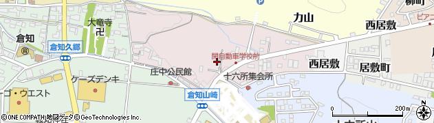 岐阜県関市馬場出周辺の地図