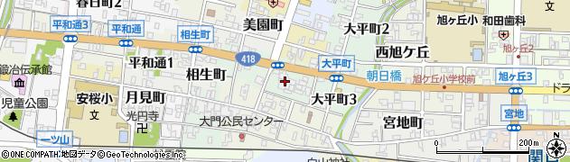 岐阜県関市観音前周辺の地図
