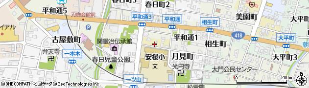 岐阜県関市いろは町周辺の地図