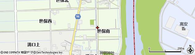 岐阜県岐阜市世保(南)周辺の地図