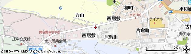 岐阜県関市西居敷周辺の地図