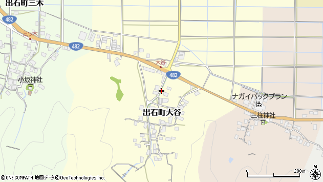 〒668-0271 兵庫県豊岡市出石町大谷の地図
