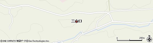 鳥取県鳥取市三山口周辺の地図