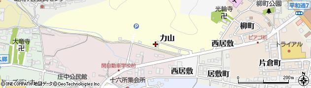 岐阜県関市力山周辺の地図