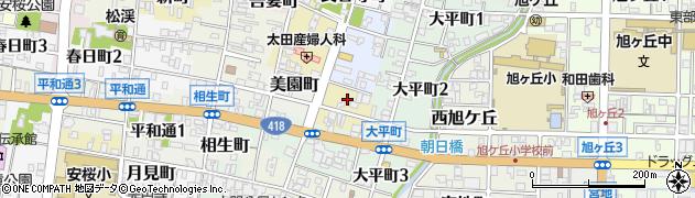 岐阜県関市長住町周辺の地図