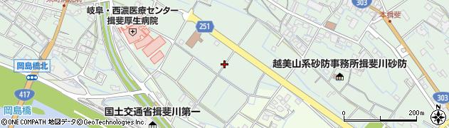 岐阜県揖斐川町(揖斐郡)三輪周辺の地図