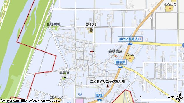 〒682-0721 鳥取県東伯郡湯梨浜町田後の地図