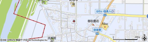 鳥取県湯梨浜町(東伯郡)田後周辺の地図