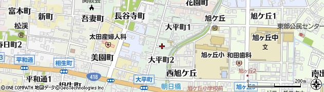岐阜県関市大平町周辺の地図