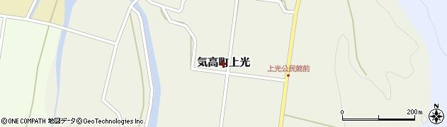 鳥取県鳥取市気高町上光周辺の地図