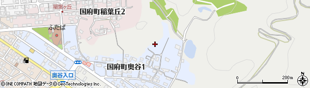 鳥取県鳥取市国府町奥谷周辺の地図