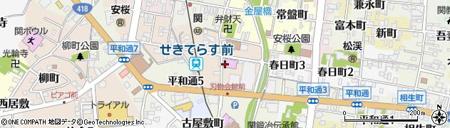 岐阜県関市日ノ出町周辺の地図