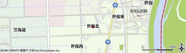岐阜県岐阜市世保(北)周辺の地図