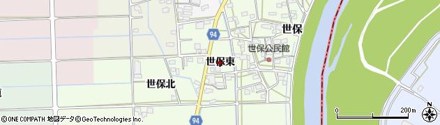 岐阜県岐阜市世保(東)周辺の地図
