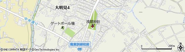 大明見小室浅間神社周辺の地図