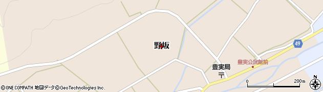 鳥取県鳥取市野坂周辺の地図