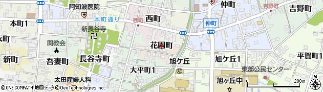 岐阜県関市花園町周辺の地図