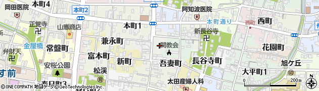岐阜県関市末広町周辺の地図