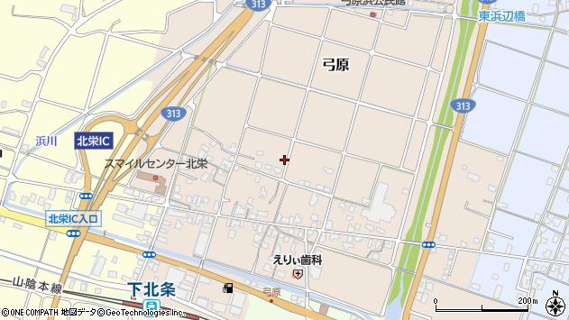 〒689-2104 鳥取県東伯郡北栄町弓原の地図