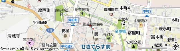 岐阜県関市十軒町周辺の地図