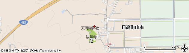 兵庫県豊岡市日高町山本周辺の地図
