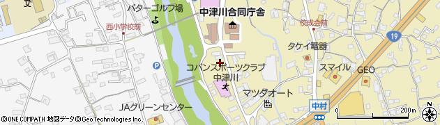 岐阜県中津川市かやの木町周辺の地図