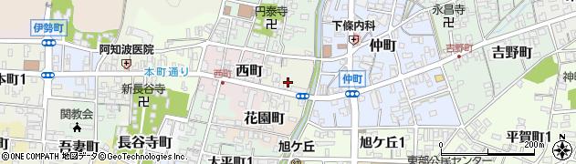岐阜県関市吉本町周辺の地図