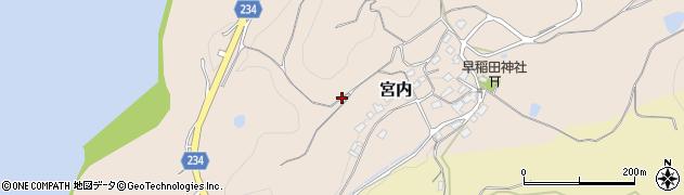鳥取県湯梨浜町(東伯郡)宮内周辺の地図