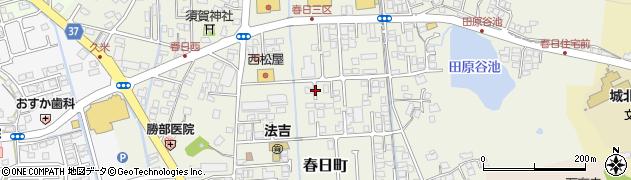 島根県松江市春日町周辺の地図