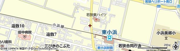 福井県小浜市遠敷周辺の地図