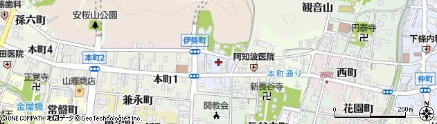 岐阜県関市伊勢町周辺の地図