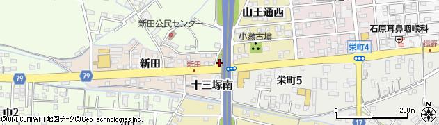 岐阜県関市十三塚町周辺の地図