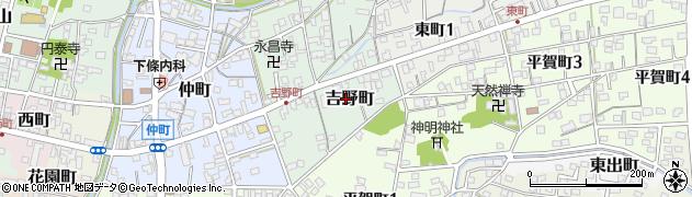岐阜県関市吉野町周辺の地図