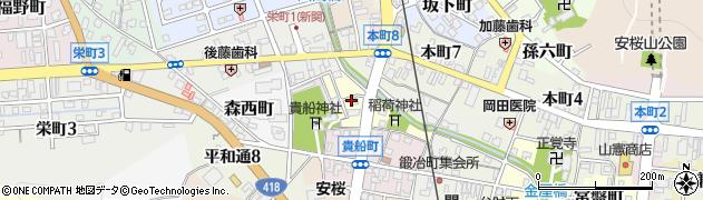 岐阜県関市河合町周辺の地図