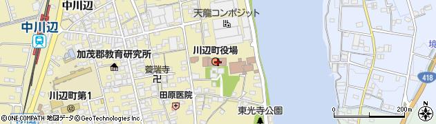 岐阜県加茂郡川辺町周辺の地図
