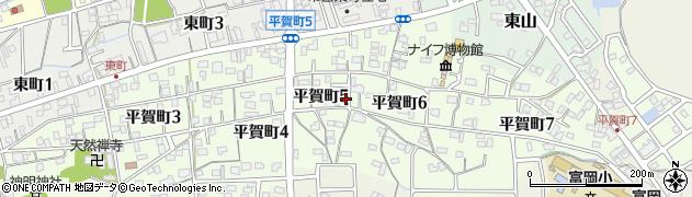 岐阜県関市平賀町周辺の地図