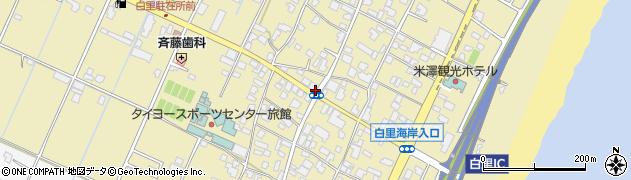 白里周辺の地図