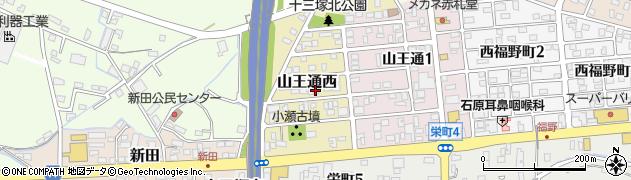 岐阜県関市山王通西周辺の地図