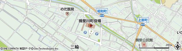 岐阜県揖斐郡揖斐川町周辺の地図