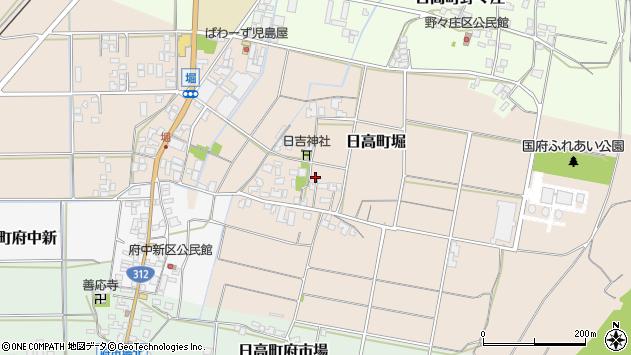 〒669-5325 兵庫県豊岡市日高町堀の地図