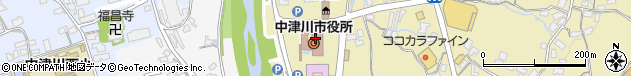 岐阜県中津川市周辺の地図