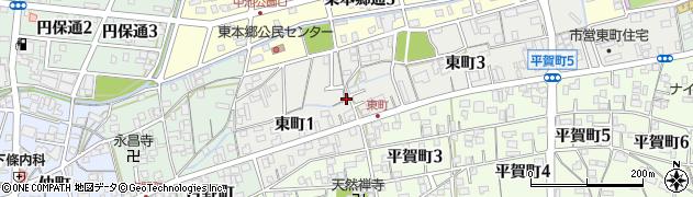 岐阜県関市東町周辺の地図