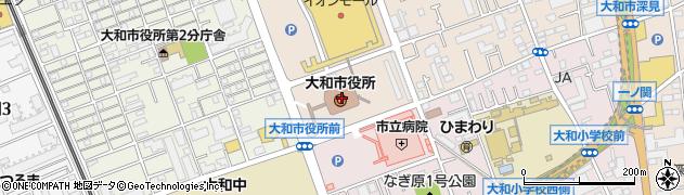 神奈川県大和市周辺の地図