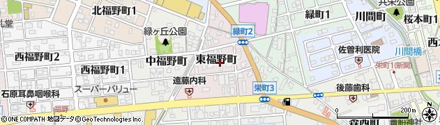 岐阜県関市東福野町周辺の地図