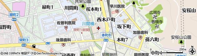 岐阜県関市若宮町周辺の地図