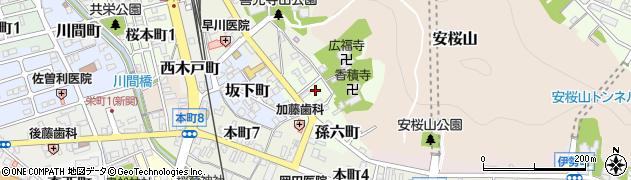 岐阜県関市東日吉町周辺の地図
