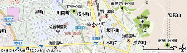 岐阜県関市西木戸町周辺の地図