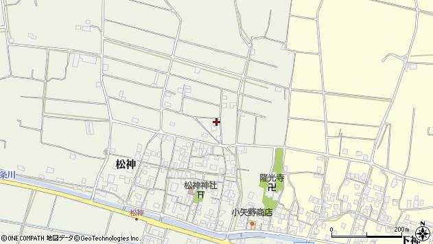 〒689-2106 鳥取県東伯郡北栄町松神の地図