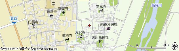 滋賀県長浜市高月町雨森周辺の地図