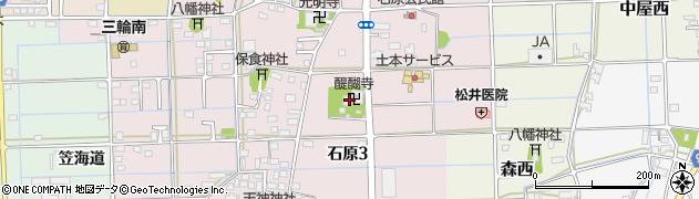醍醐寺周辺の地図